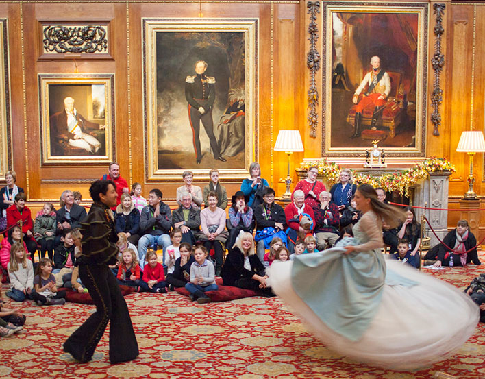 Pop-up pantomime at Windsor Castle