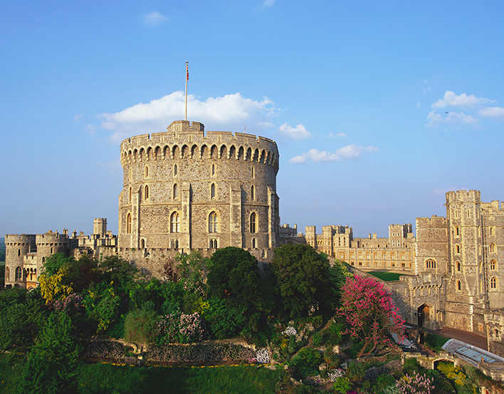 Windsor Castle viewed from the Long Walk