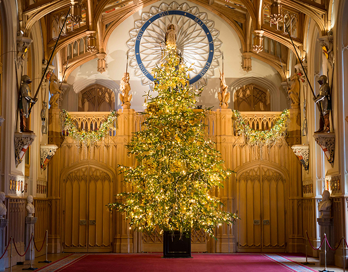 The Christmas tree in St George's Hall