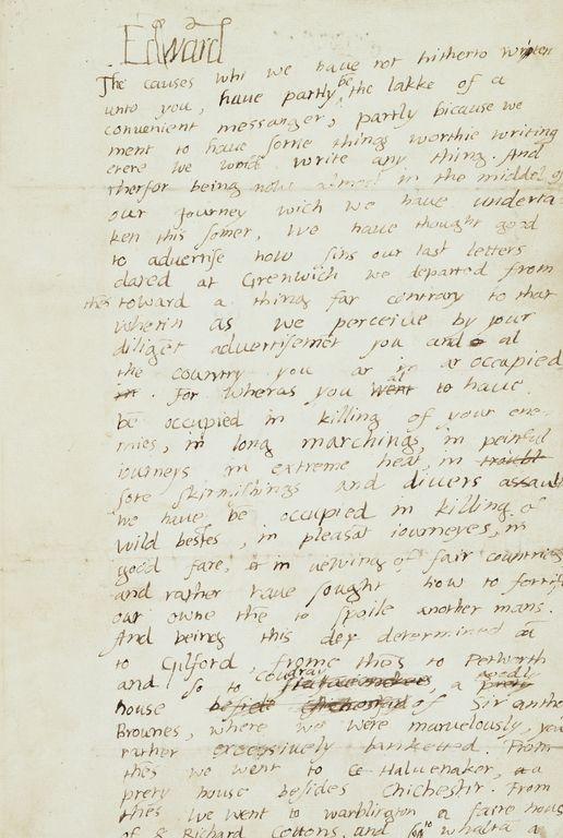 Edward VI, Letter to Barnaby Fitzpatrick