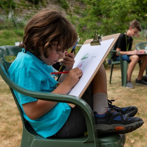 Moat Garden sketching