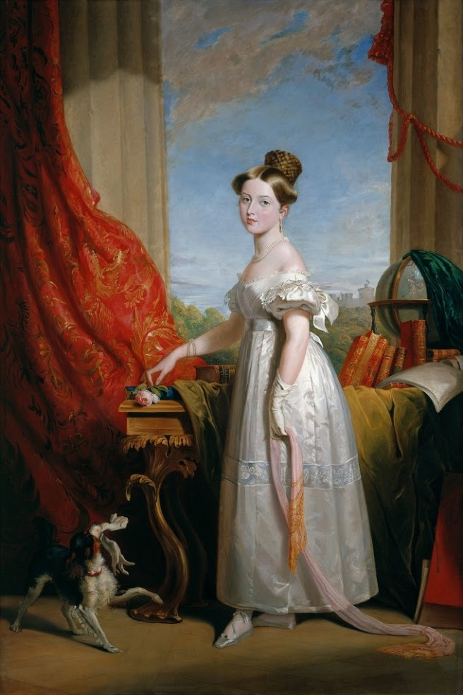A painting of Princess Victoria in 1833