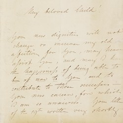 Letter from King Leopold of the Belgians to the young Queen Victoria, offering advice on her new position, 23 June 1837