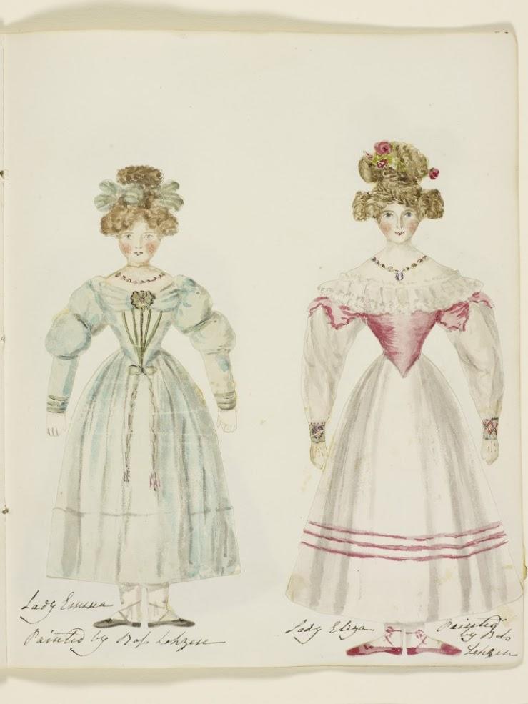 2 of Queen Victoria's paper dolls