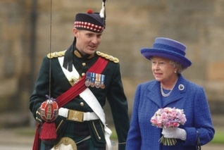 HM Queen at the Palace of Holyroodhouse