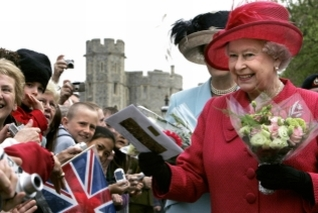 Queen Elizabeth II during a walkabout to celebrate her 80th birthday in Windsor. Copyright: PA Wire